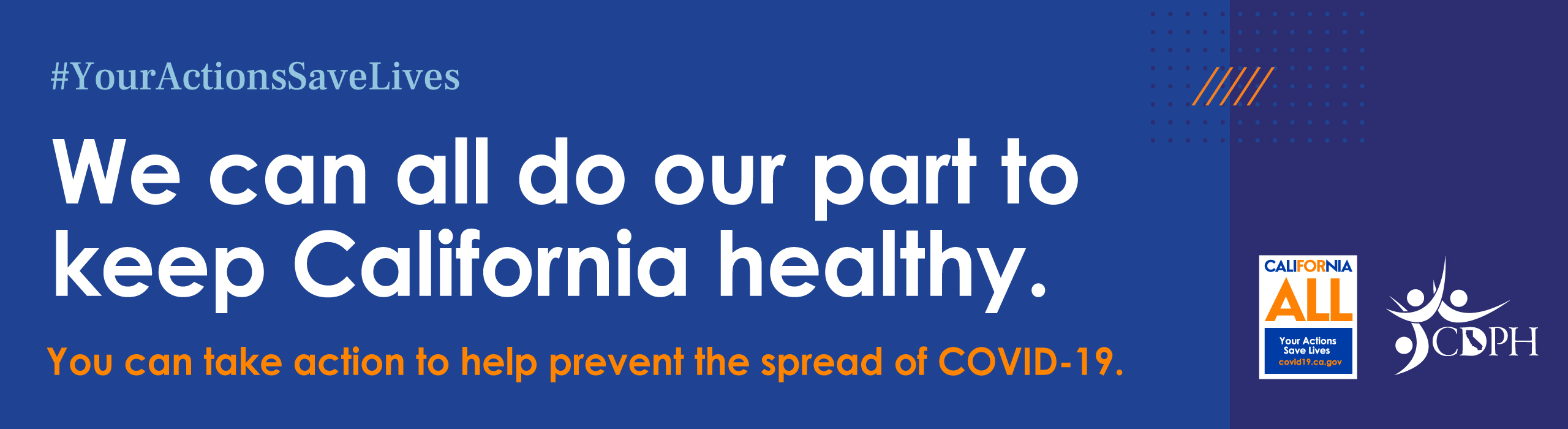 Do our part to keep California healthy